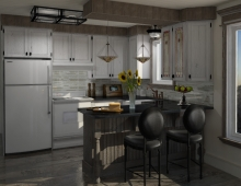 Rustic Kitchen Style 3D model