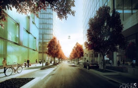 Frankfurt am Main 3D model - Daylight Rendering