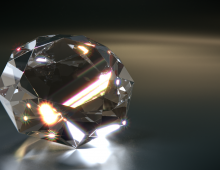 Gemstone 3D model - IOR und Kaustiktest.