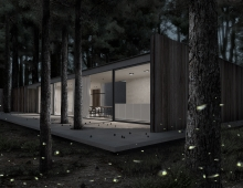 House in woods 3D model