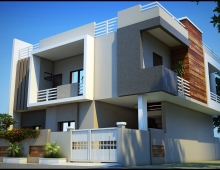 Duplex design in 3d 3D model