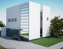3d Exterior Residential Office View 3D model