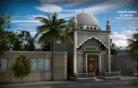 Little Mosque daylight 3D model