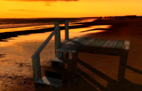 Sunset at the beach 3D model