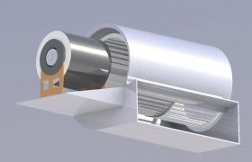 Fan Coil Unit Motor of Parliament House Islamabad (FCU) 3D model - FCU Motor Rendering Image
