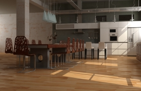 Apartment-style loft 3D model