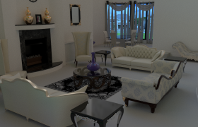 Interior design of a living room 3D model - I have modeled every thing in this scene from scratch And rendered in cycles