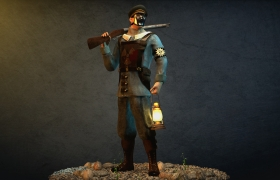 Sculpt - Soldier 3D model