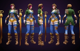 Fiora League of Legends 3D model