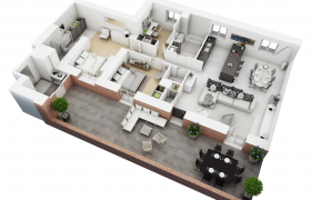 house floor plan 3D model