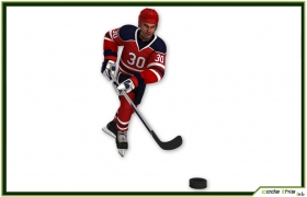 Hockey Player CG 3D model