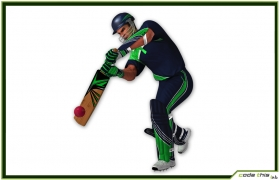 Cricket Player Batter CG 3D model