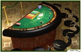 Table Casino - Black Jack Table 3D model