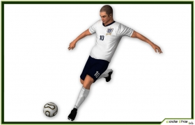 Soccer Player England CG 3D model