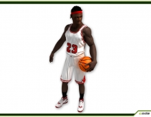 Black Basket Player CG 3D model