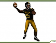 American Football Player 6670 tris 3D model