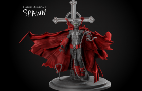 Spawn Fan Art 3D model - Final render