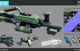 Game Art 3D model - Weapon design for 3rd or 1st person shooter use.