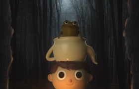 Gregory And The Frog 3D model
