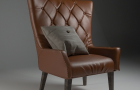 Armchair design 3D model