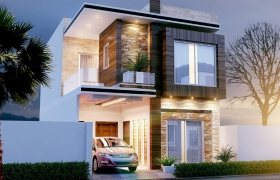 3d design work 3D model - exterior design of house