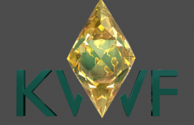 Kashmir world foundation and kashmir robotic logo 3D model