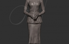 A figure of a woman 3D model