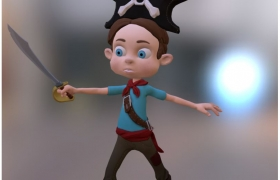 Pirate Kid 3D model
