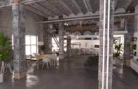Old loft with new wiz 3D model