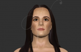 A portrait of an actress 3D model