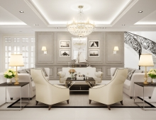 Classic chic Private Residential.Malaysia 3D model - Main Living Room.