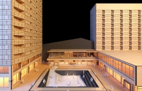 Zodiak Square Maquette Rendering 3D model