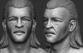 Face study in zbrush 3D model
