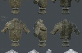 Male Bust Damged 3D model