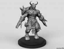 Minotaur Redesign for 3d print 3D model - Minotaur Redesign Done in zbrush