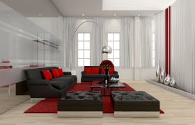 HOME OFFICE & LIVING ROOM 3D model