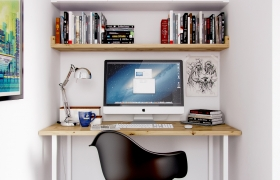 Small office 3D model - Software: 3DS Max 2014, Vray 2.40, Photoshop CS6