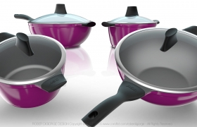 Houseware / Cookware / Kitchenware 3D model - Cookware Set - Design on Die Cast Aluminum of European Style for the Asian market on 2013.