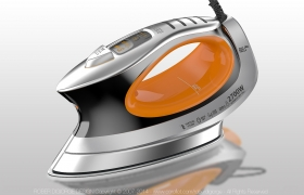Steam Irons 3D model - The concept is inspired shapes and soft contours of nature, especially and particularly this line of Irons is based on whales and likewise contrasted and supported by high technology lines.