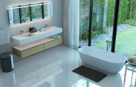 Bathroom with New bath-Tub 3D model - New bath-Tub and wash-basin Tablet