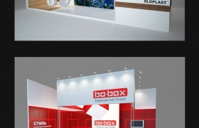 Expo area 3D model
