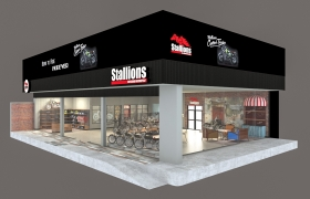 showroom motorcycle (Stallion) 3D model