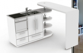 Compact kitchen 3D model