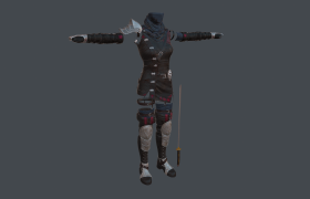Medieval Clothe Outfit 3D model