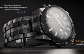 product render 3D model - Casio Edifice visualization
