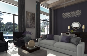 PURPLE LIVING ROOM 3D model