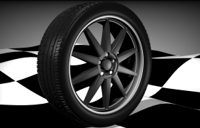 Automotive wheel 3D model