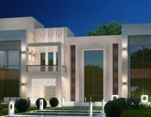 House Rendering  Facade 3D model