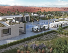 Desert mountain Resort Project 3D model