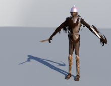 Game character 3D model - Low poly soldier model